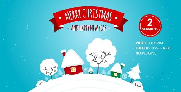 5819圣诞节卡通电子贺卡动画AE模版,Christmas Card