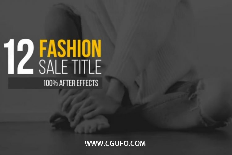 5864产品售价字幕动画AE模版,Sale Title