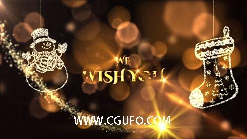 5874圣诞节片头动画AE模版,Christmas Wishes