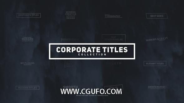 5880企业字体动画包AE模版,Corporate Titles Pack