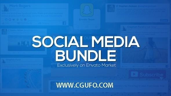 5904社交媒体动画AE模版,Social Media Bundle