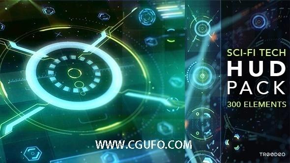 5910HUD高科技界面动画AE模版,HUD Sci-Fi Infographic
