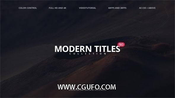 5928-50组标题动画AE模版,50 Modern Titles