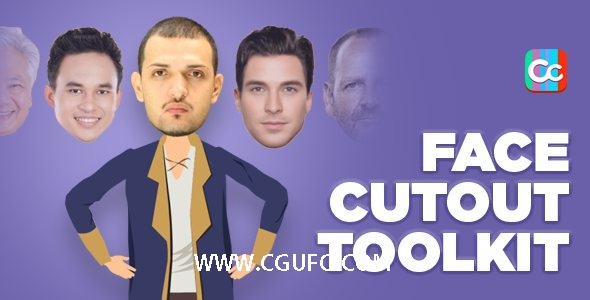 5939人脸MG动画特效AE模版,Face Cutout Toolkit