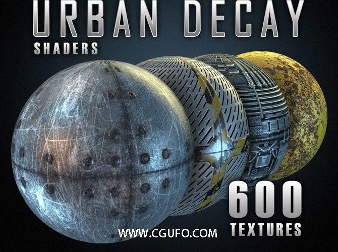 600组E3D材质预设 纹理贴图 城市金属建筑涂鸦石头混凝土