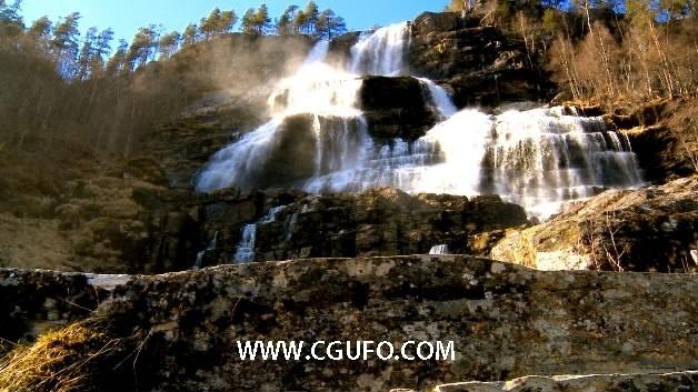 1287大气唯美瀑布高清实拍视频素材