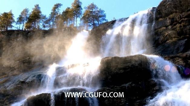 1288大气唯美瀑布高清实拍视频素材