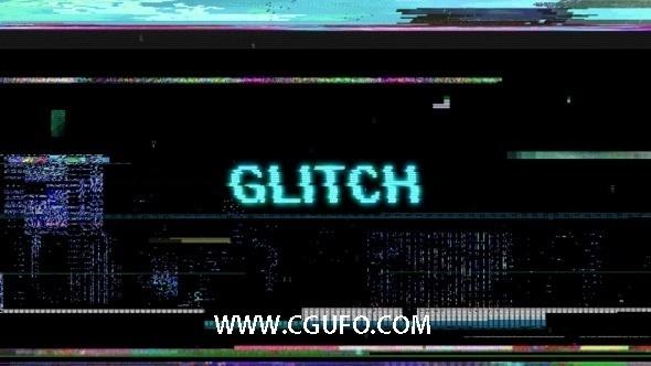 110-10组视频干扰特效高清视频素材带通道,Glitch