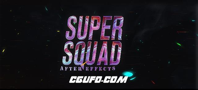6084-25组电影级文字标题特效包装动画AE模版,25 SuperHero Trailer Titles Pack
