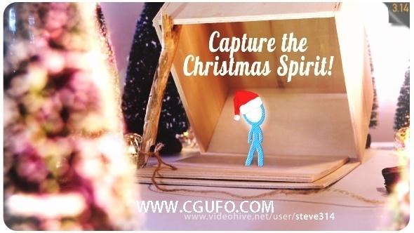 5948圣诞节创意动动画AE模版,Capture the Christmas Spirit