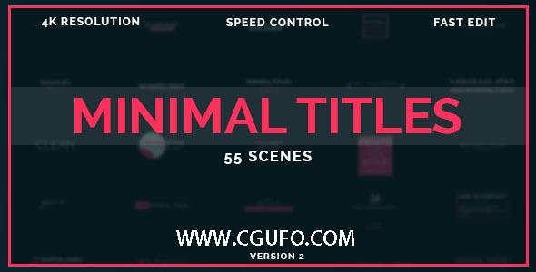5978-50组标题动画AE模版,50 Minimal Titles