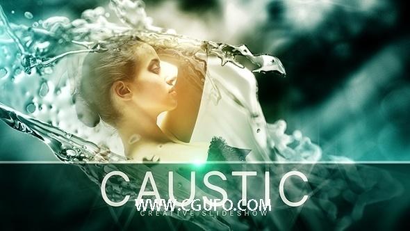 5981唯美经典图片包装动画AE模版,Caustic