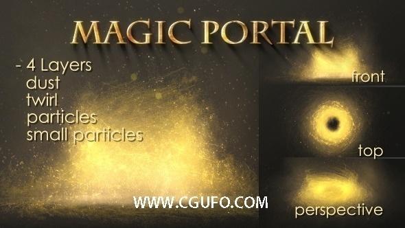 6001金色魔法粒子特效AE模版,Metal Logo
