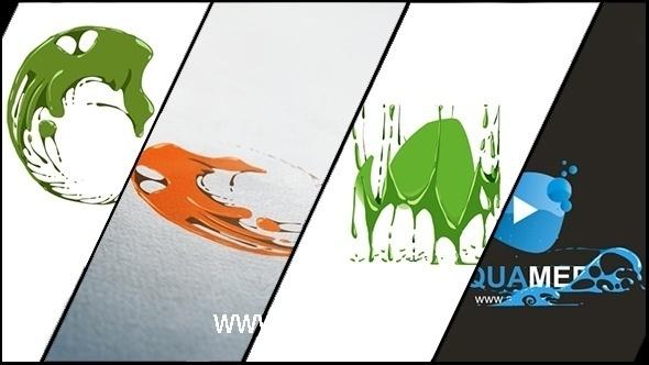 6019液体特效企业logo演绎动画AE模版,Corporate Logo V19 Liquid Hand Drawn