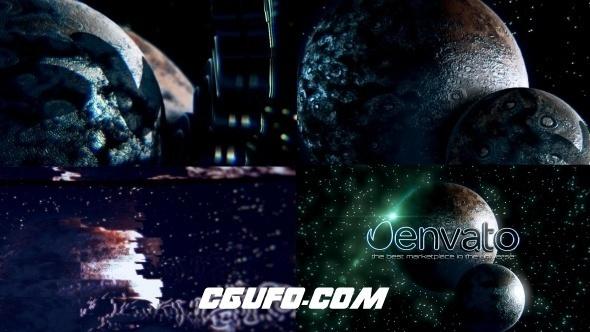 6021AE模版E3D模版星空星球特效动画,Space Glitch Logo