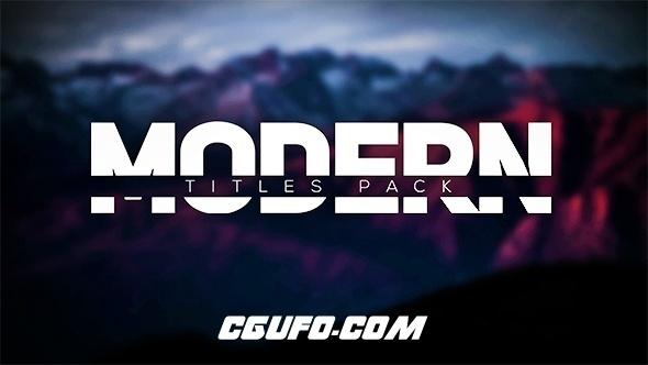 6027时尚现代标题文字特效动画AE模版,Modern Intro Titles Pack lll