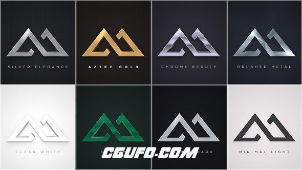 6030简洁logo演绎动画AE模版,Elegant Logo Reveals Pack