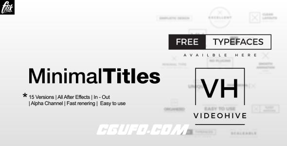 6056迷你简洁字幕条文字标题动画AE模版,Ultra Minimal Titles Pack
