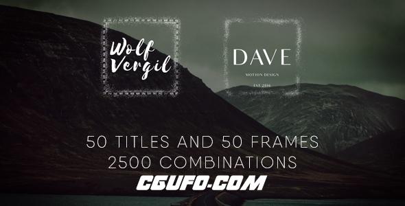 6075简洁标题文字包装特效动画AE模版,Title Pack