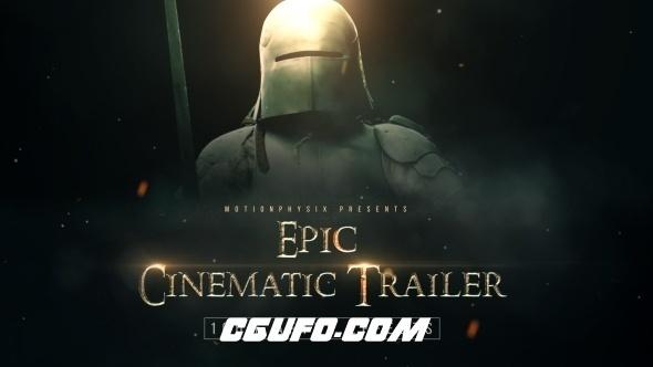 6079电影史诗级文字标题包装动画AE模版,Epic Cinematic Trailer