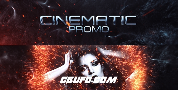6082电影宣传文字特效动画AE模版,Cinematic Promo