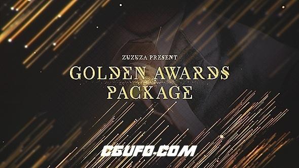 6098颁奖典礼颁奖晚会包装动画AE模版,Golden Awards Package