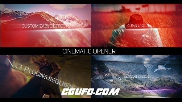 6099电影级图片包装动画AE模版,Cinematic Opener Slideshow