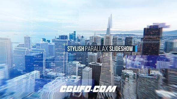 6103视频图片展示文字标题包装动画AE模版,Stylish Parallax Slideshow