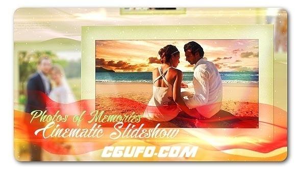 6105唯美爱情回忆相册动画婚礼相册展示动画AE模版,Lovely Slides of Romantic Moments
