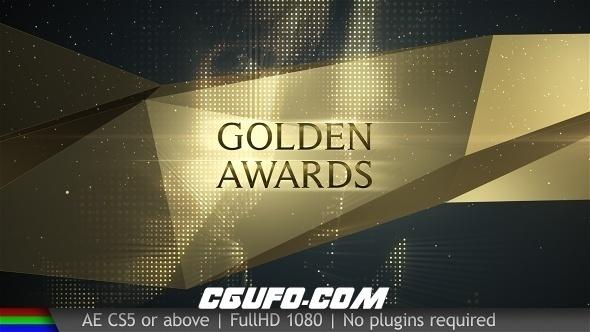6017颁奖典礼片头动画AE模版,Awards Golden Show