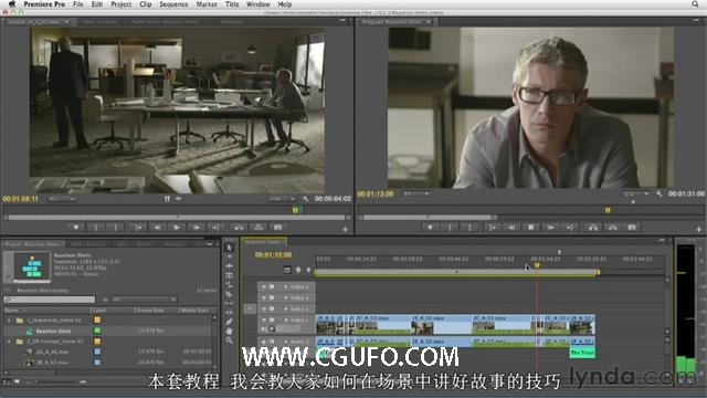 第18期中文字幕翻译教程《琳达Premiere Pro故事性电影的编辑》