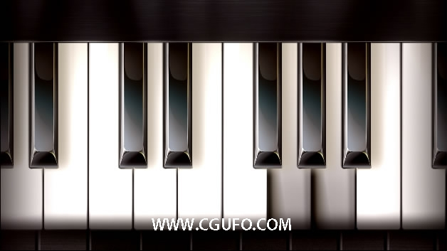 114钢琴键盘高清视频视频素材