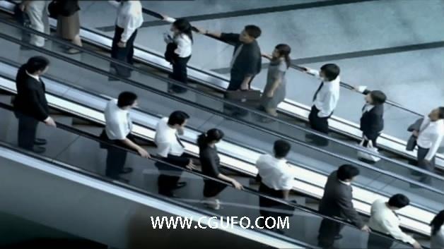 2028商务人士上班下班高清实拍视频素材