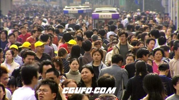 2086-上海大街上人流高清实拍视频素材