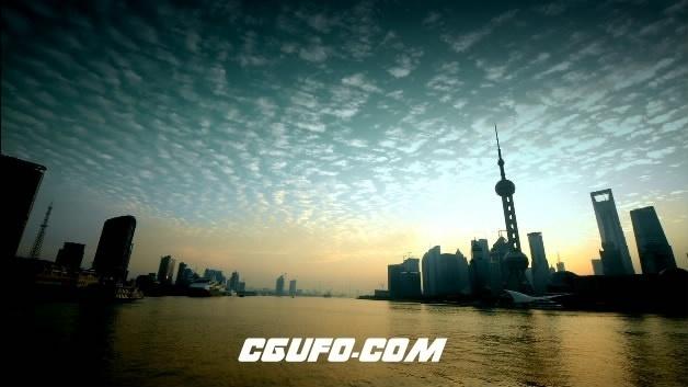 2088-上海东方明珠01(早晨快速)高清实拍视频素材