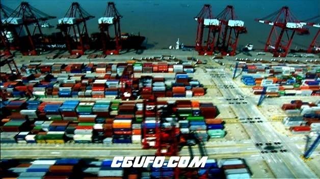 2098-上海航拍镜头一组2高清实拍视频素材