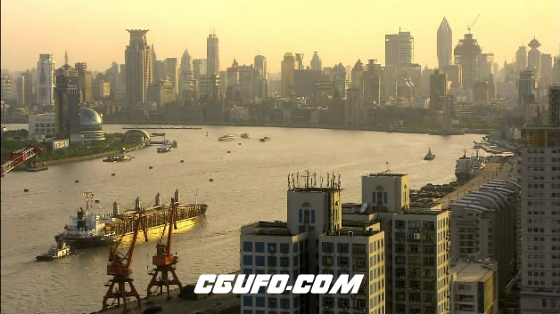 2100-上海黄埔江景(快速)高清实拍视频素材