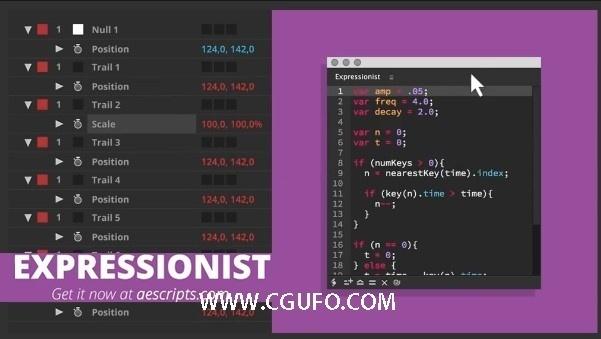 AE脚本:表达式编辑错误检查脚本 Expressionist v1.0.0