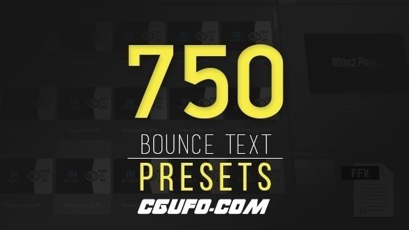 6224-750组文字弹跳AE预设动画,Ultimatum Bounce Presets