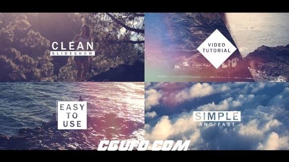 6141简洁图片快速转场动画AE模版,Fast and Clean Slideshow