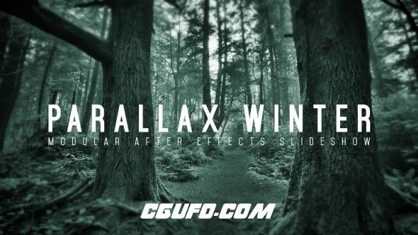 6165唯美大气图文标题动画AE模版,Parallax Winter