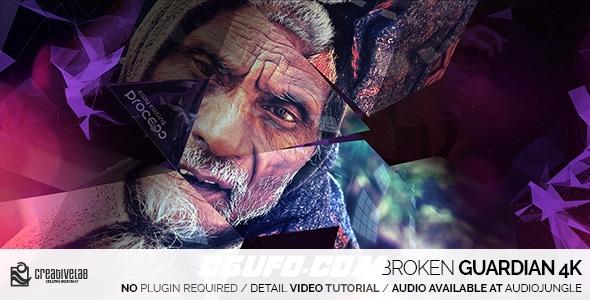 6206-4K高科技图片包装展示动画AE模版,Broken Guardian 4K