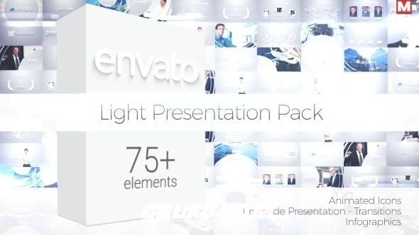 6215-75组+转场元素信息图表logo演绎动画素材包AE模版,Light Presentation Pack