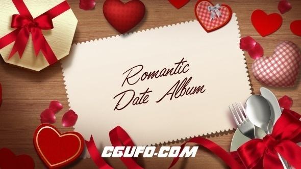 6247婚礼爱情相册动画AE模版,Romantic Date Album