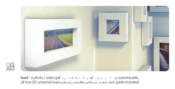 6278唯美相片框图片展示动画AE模版,Photo Gallery