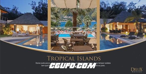 6285奢华公寓酒店房产促销AE模板,Luxury Hotel Slides