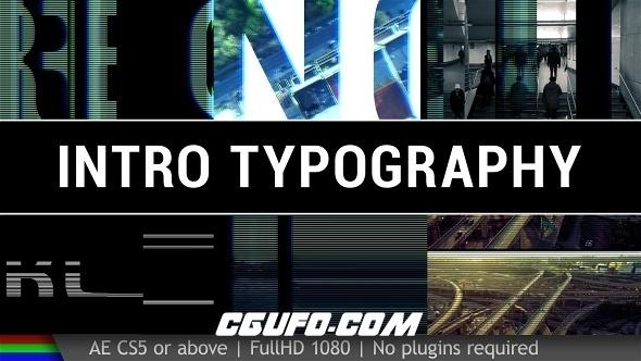 6290高科技图片文字视频包装动画AE模版,Intro Typography