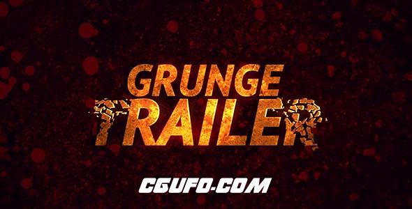 6292极限运动项目文字特效包装动画AE模版,Grunge Trailer