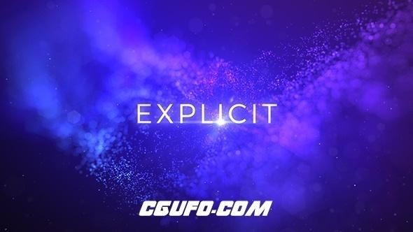 6293唯美大气粒子标题动画AE模版,Explicit – Unique Titles