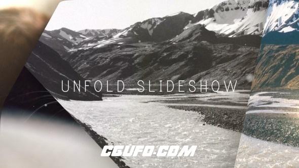 6299唯美图片展示动画AE模版,Unfold Slideshow